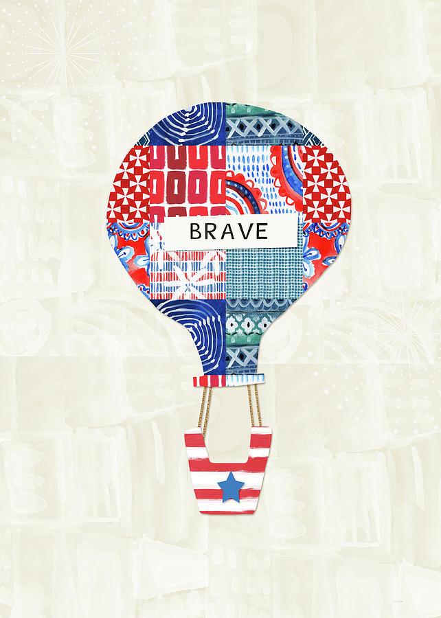 Red Mixed Media - Brave Balloon- Art By Linda Woods by Linda Woods