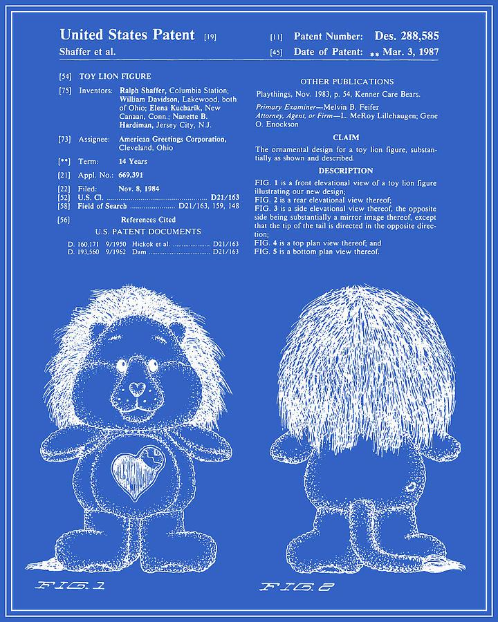 Brave heart lion patent blueprint digital art by finlay mcnevin patent digital art brave heart lion patent blueprint by finlay mcnevin malvernweather Choice Image
