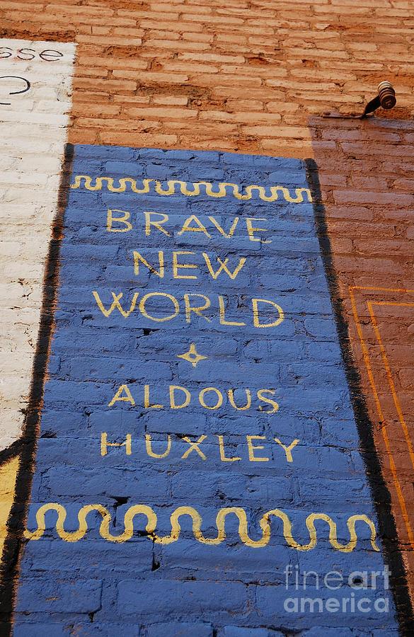 Urban Photograph - Brave New World - Aldous Huxley Mural by Steven Milner