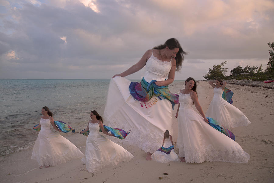 Wedding Digital Art - Brave New World Dimensions Custom Sample by Betsy Knapp