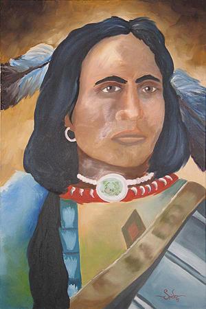 Brave Warrior Painting by Spider Ryan