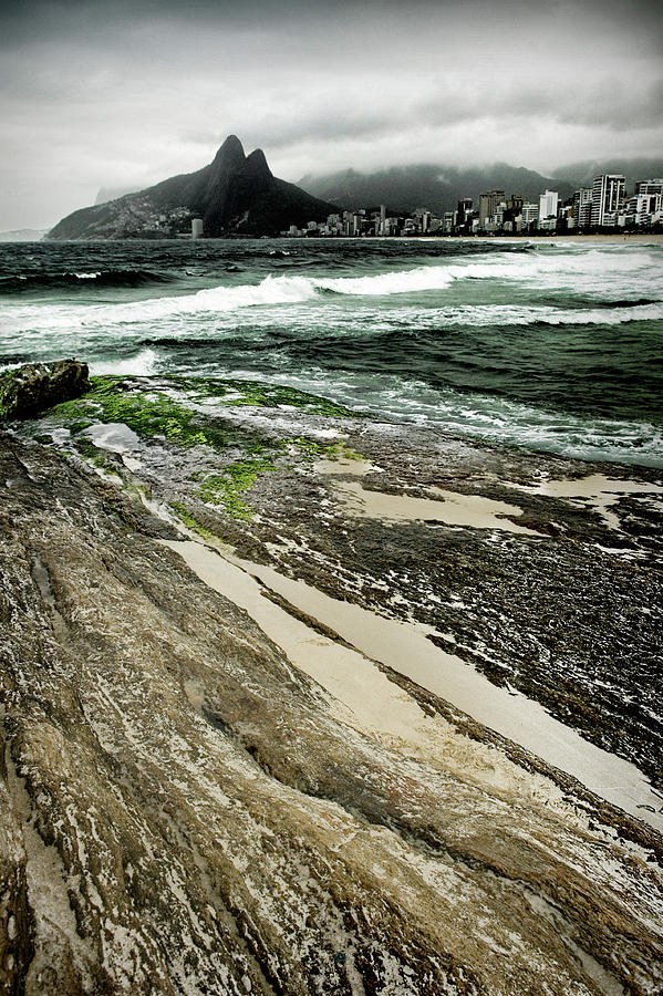 Brazil Photograph - Brazil - Rock And Sand by Colleen Joy