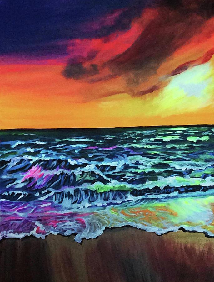 Brazilian Sunset Painting by Lori Teich