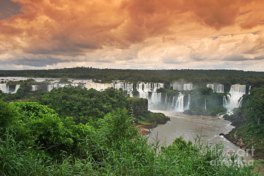 America Photograph - Brazil,Iguazu Falls,spectacular view by Juergen Held