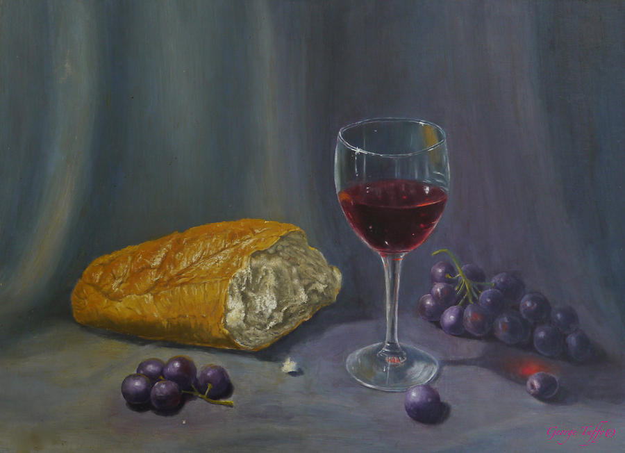Bread and wine by George Tuffy