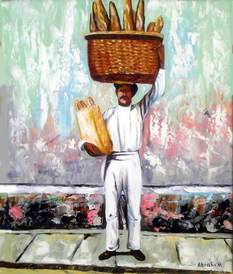 Bread Painting - Breadman by Jose Manuel Abraham