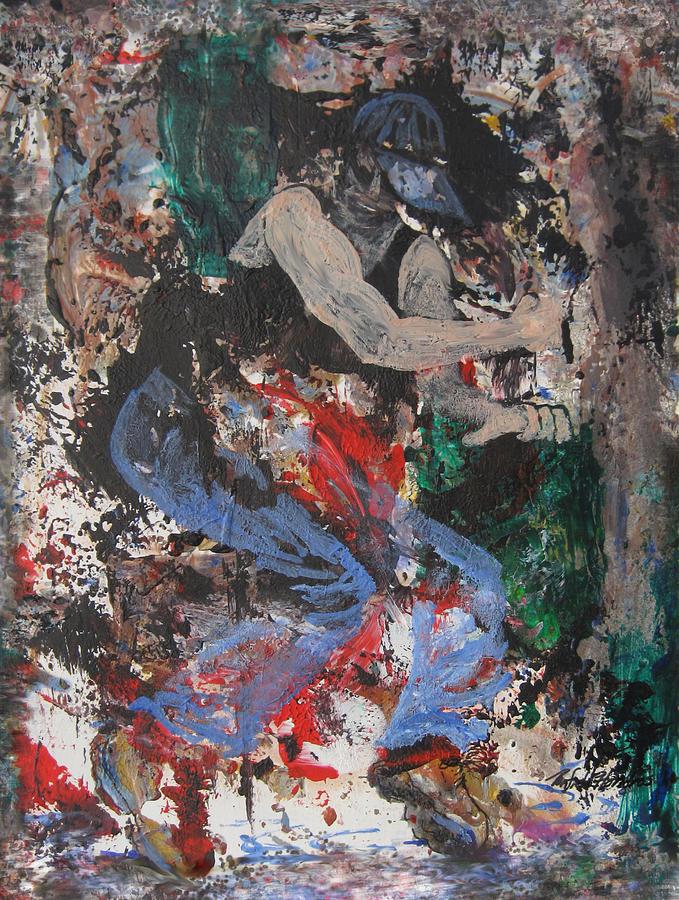Dancing Painting - Break Dancin In The Rain by Penfield Hondros