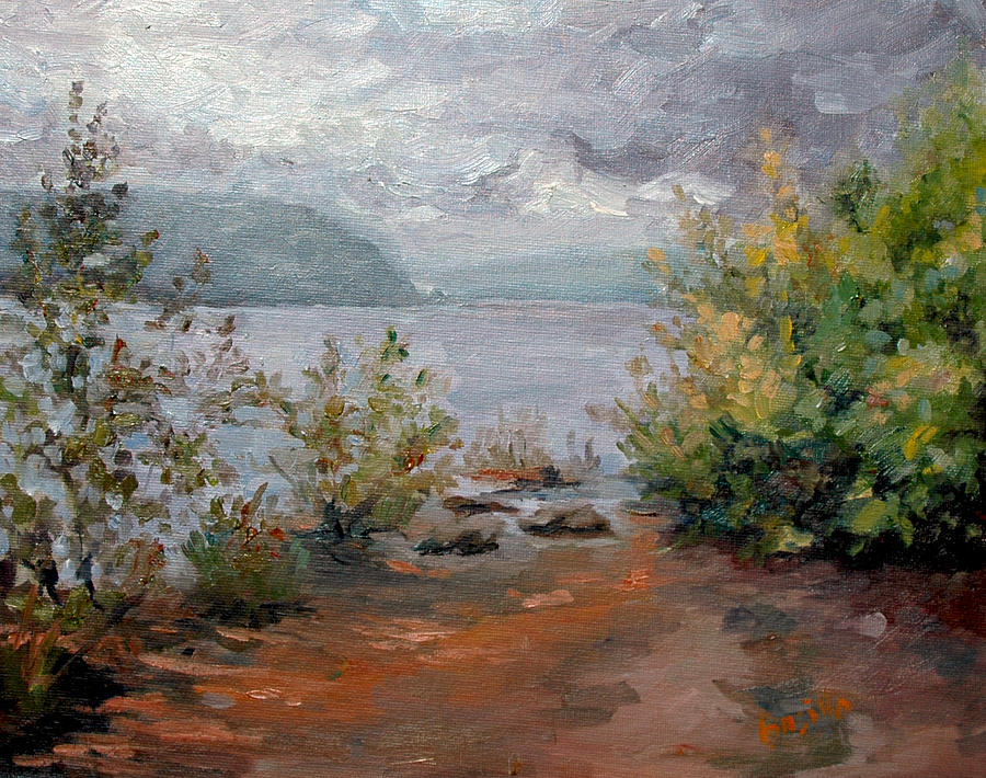 Susquehanna River Painting - Break in the Storms by Kathy Busillo
