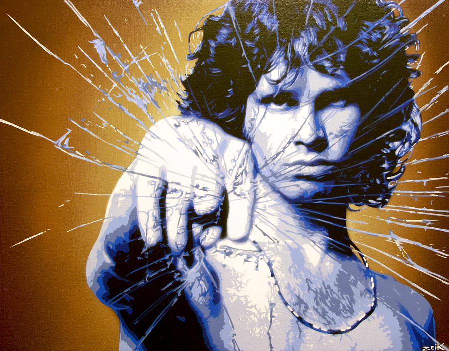 Jim Morrison Painting - Break On Through by Bobby Zeik