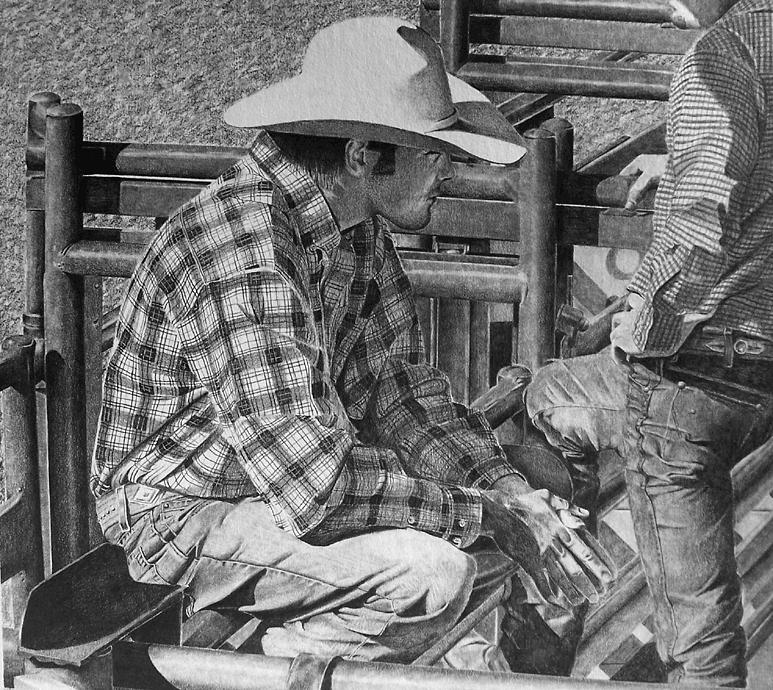 Rodeo Drawing - Break Time by John Bowman