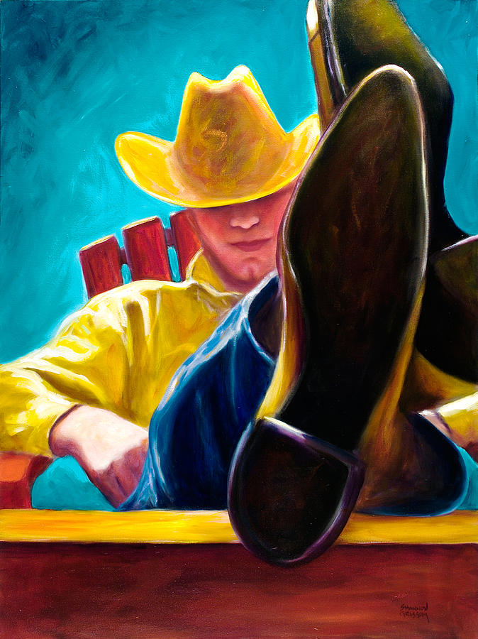 Western Painting - Break Time by Shannon Grissom