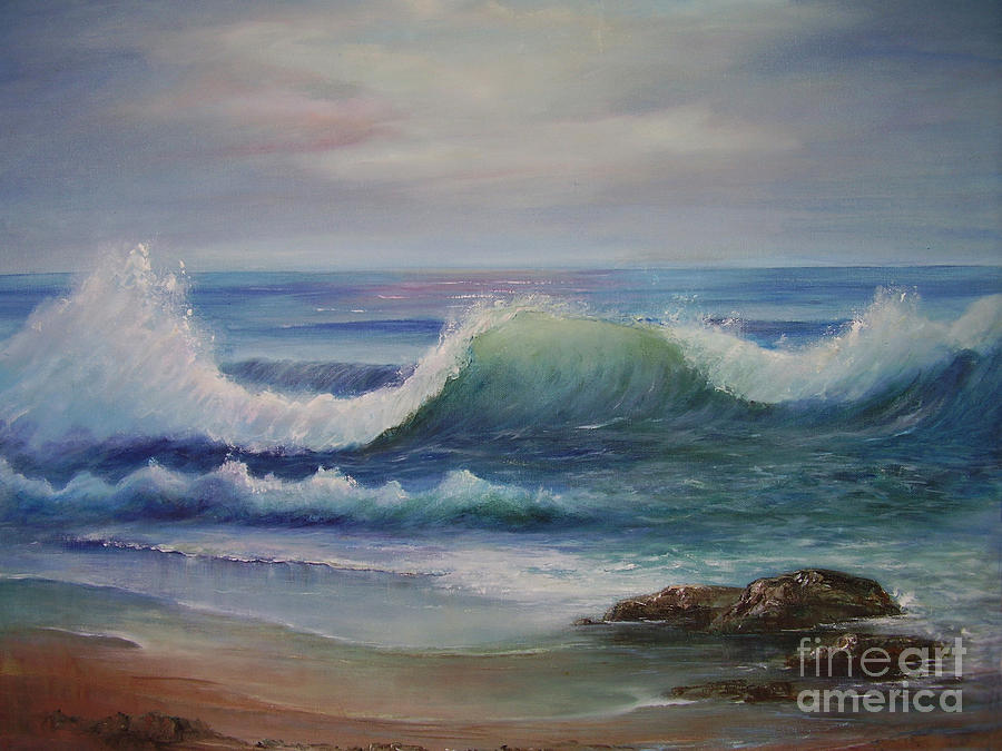 Seascape Painting - Breakers by Rita Palm