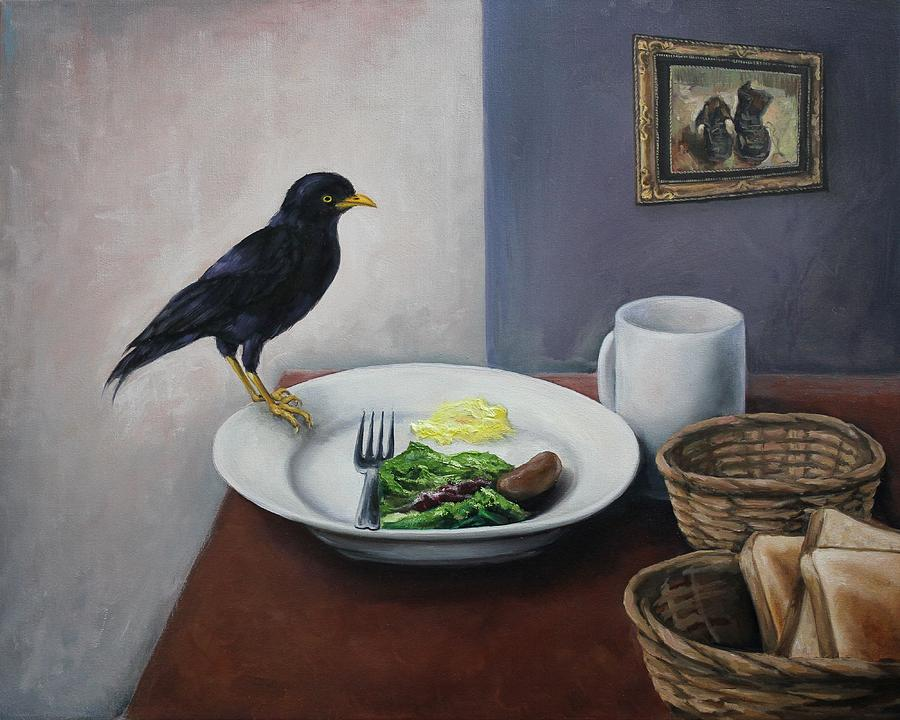 Bird Painting - Breakfast At The Bird Park by Michelle Barone