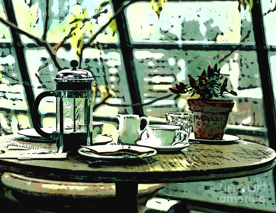 Coffee Digital Art - Breakfast Coffee Table by Phil Perkins