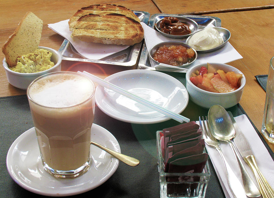 Cafe Photograph - Breakfast in Argentina by Ave Guevara