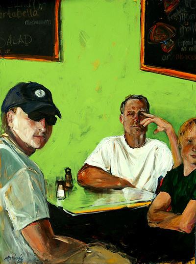 Portrait Painting - Breakfast In New Jersey-i by Michelle Winnie