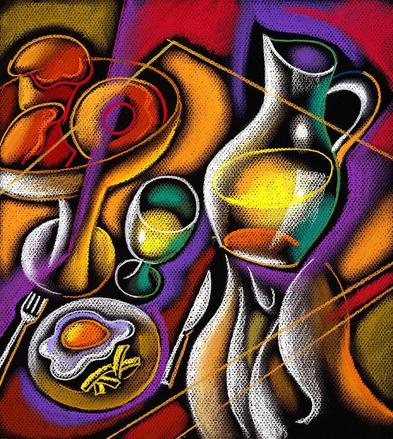 Breakfast Painting by Leon Zernitsky