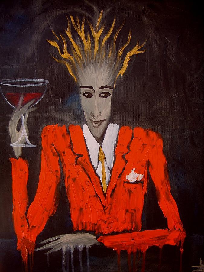 Transrealism Painting - Breakfast Sunday Evening by Zsuzsa Sedah Mathe
