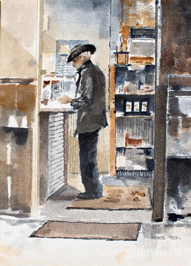 Kansas Painting - Breakfast Tab by Monte Toon