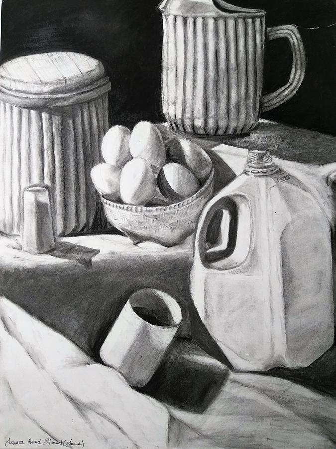 Eggs Drawing - Breakfast Time  by Jessica Stewart
