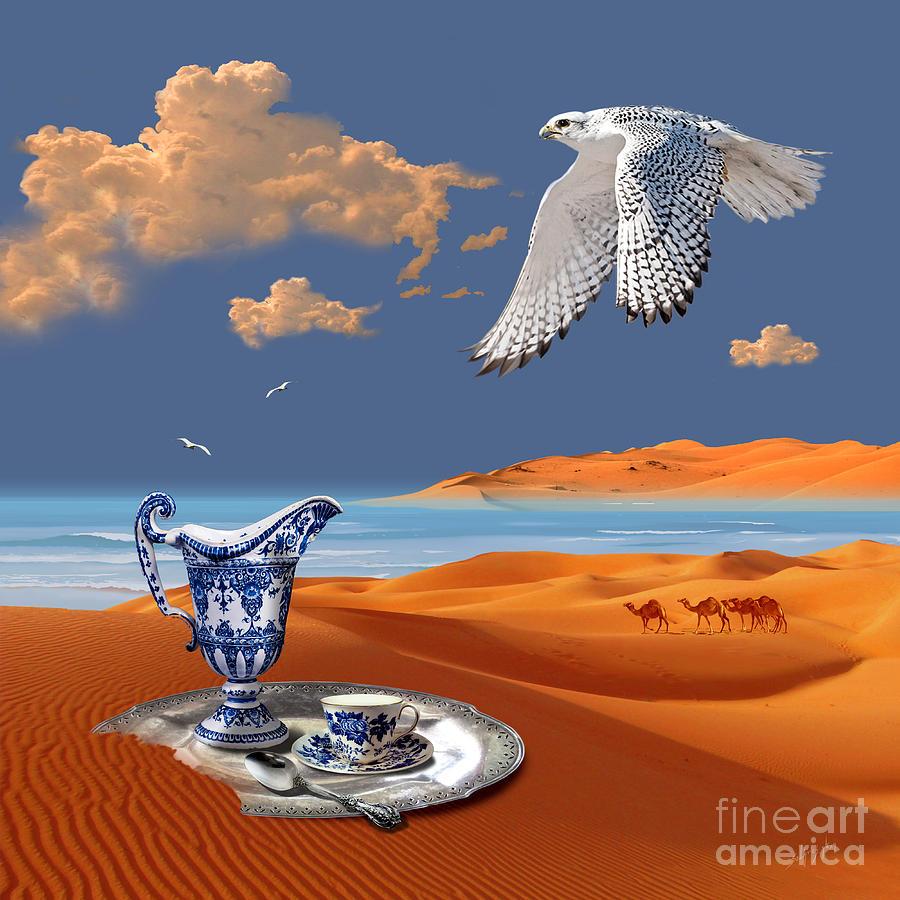 Breakfast with white falcon by Alexa Szlavics