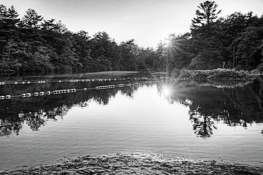 breakheart reservation sunset saugus ma black and white photograph