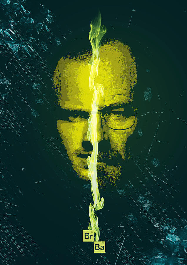 Walter White Digital Art - Breaking bad poster heisenberg print walter white and jesse pinkman portrait wall decor by IamLoudness Studio