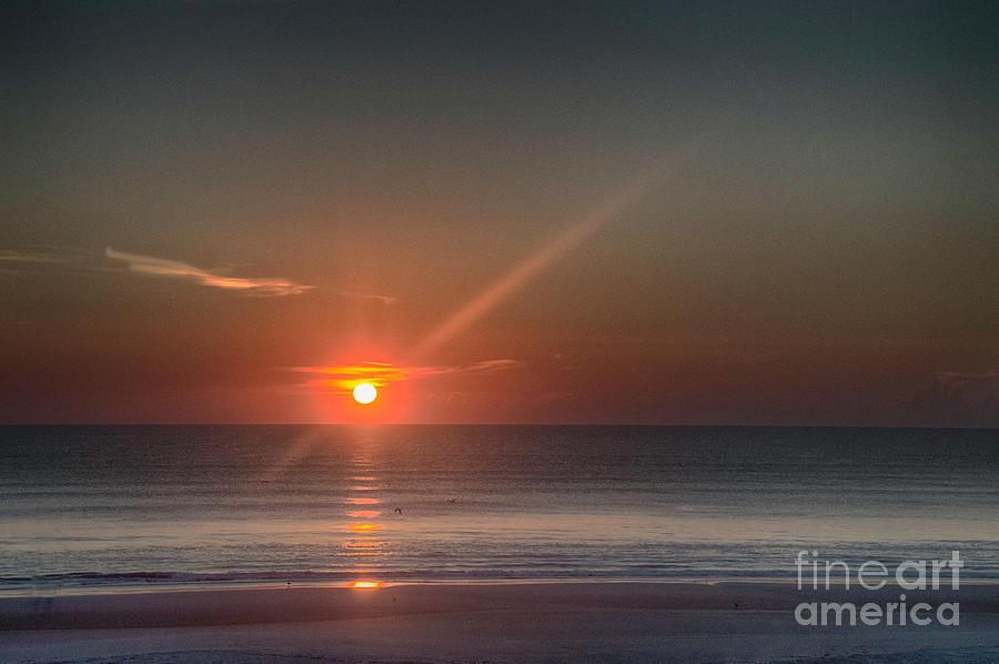 Dawn Photograph - Breaking Dawn Daytona Beach by Judy Hall-Folde