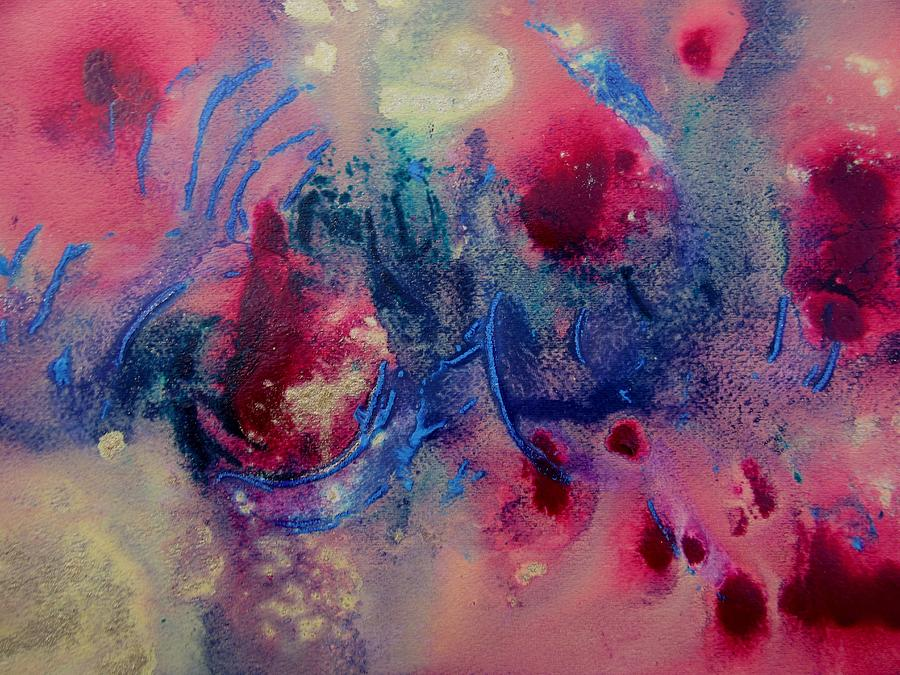 Abstract Painting Painting - Breaking Out by Louise Adams