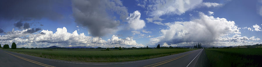 Storm Photograph - Breaking Storm Over The Willamette Valley 170522-170551 by Torrey E Smith