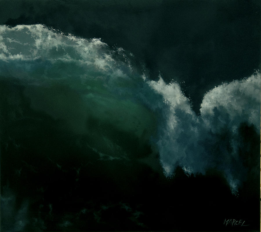 Seascape Painting - Breaking Wave by Marcel Franquelin