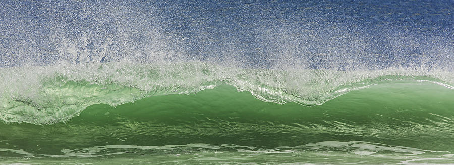 Wave Photograph - Aqua Wave by Paula Porterfield-Izzo