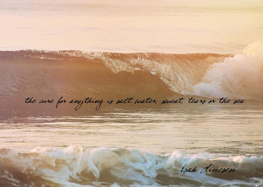 Ocean Photograph - Breaking Wave Quote by JAMART Photography