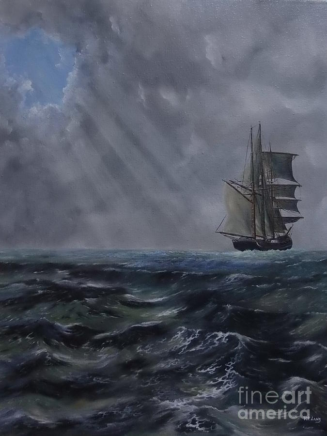 Ship Painting - Breakthrough by Patricia Lang