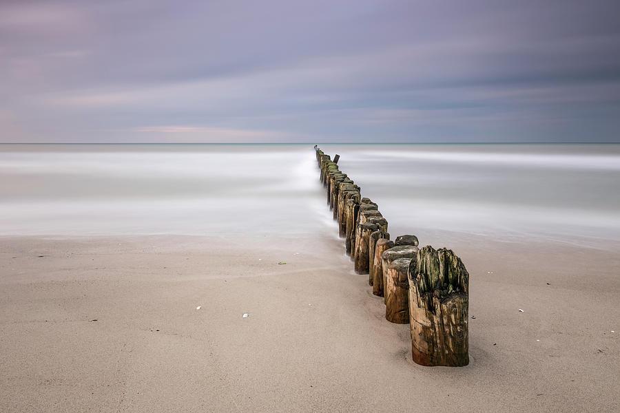 Minimalism Photograph - Breakwater by Holger Nimtz