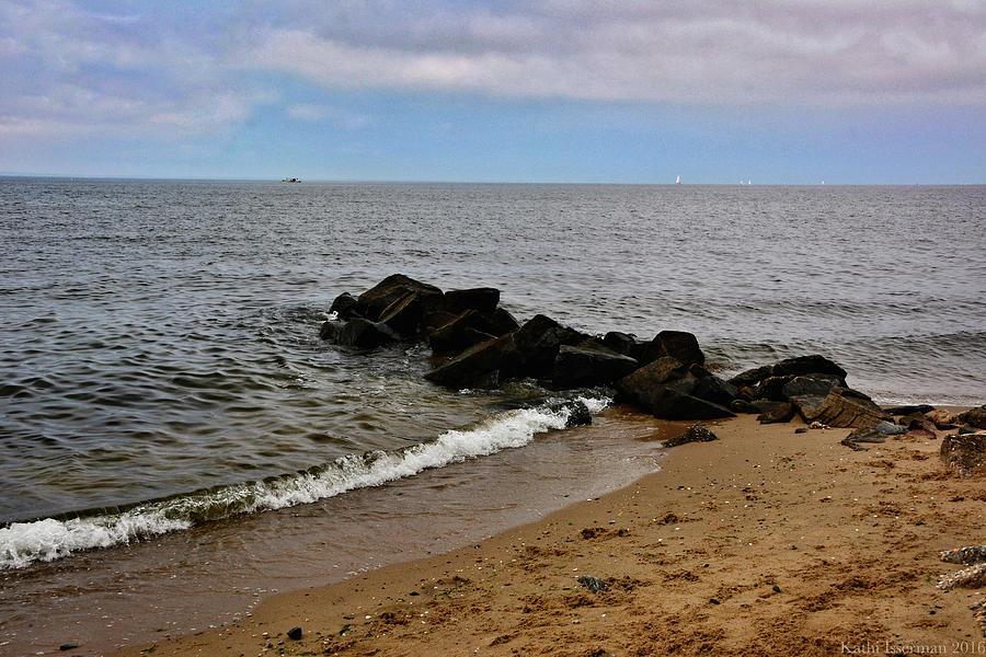 Chesapeake Bay Photograph - Breakwaters by Kathi Isserman