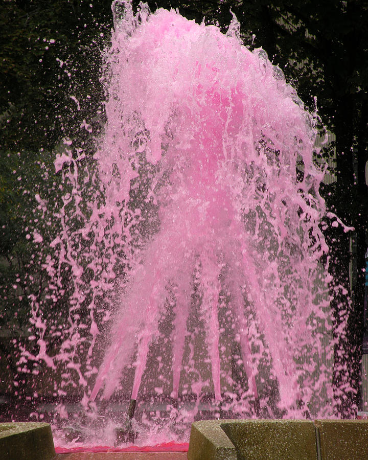 Fountain Photograph - Breast Cancer Awareness by PaTer Customs