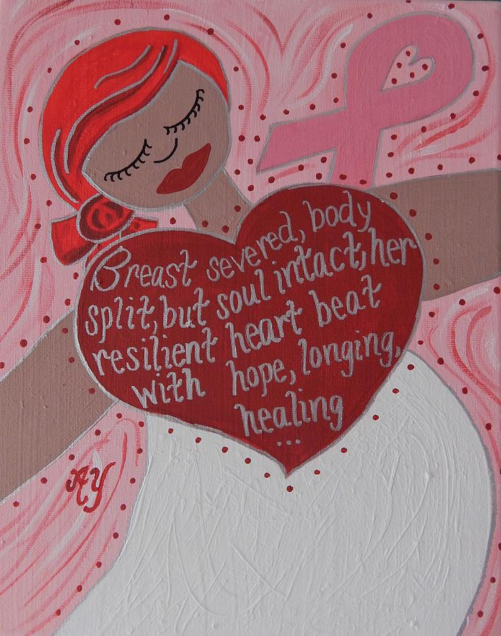 Breast Cancer Painting - Breast Cancer Goddess by Angela Yarber