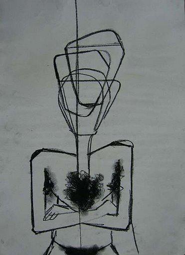 Drawing Drawing - Breath by Pranab prakash Mohanty