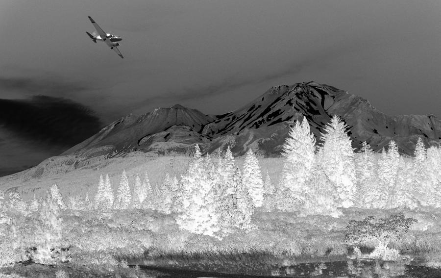 Mount Shasta Photograph - Breathtaking In Black And White by Joyce Dickens