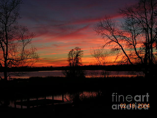 Sunset Photograph - Breathtaking View Of Cooper River Sunset by Lee Ann Wunderler
