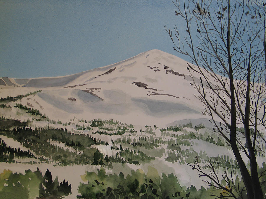 Watercolor Painting - Breckenridge View by Carole Poole