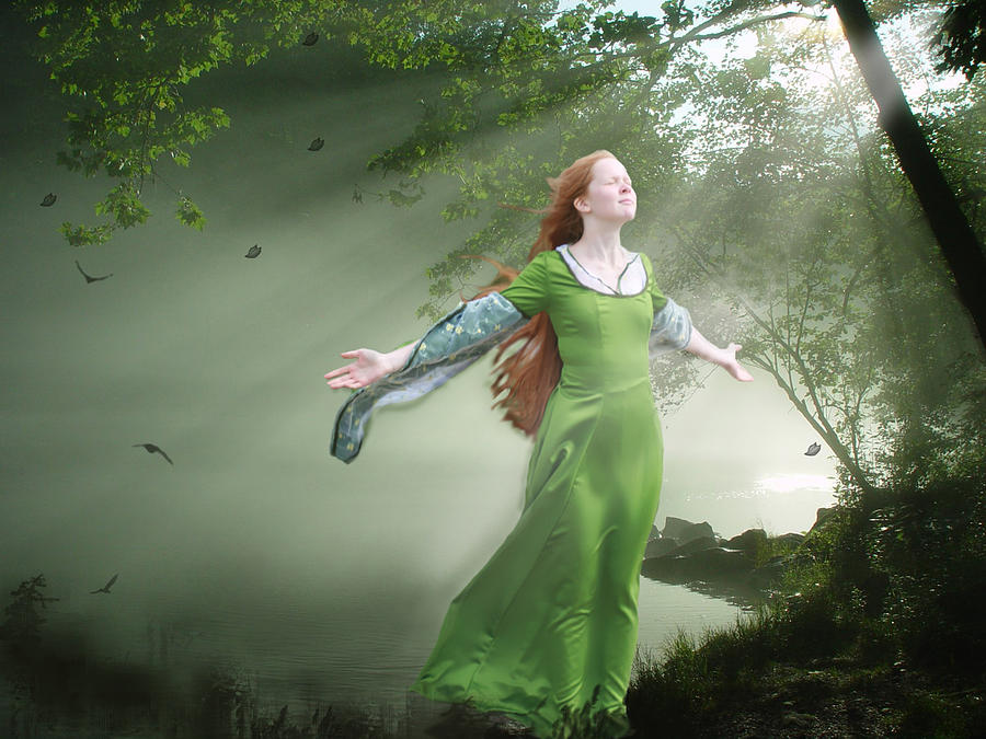 Fantasy Painting - Breeze by Marrissia Ruth
