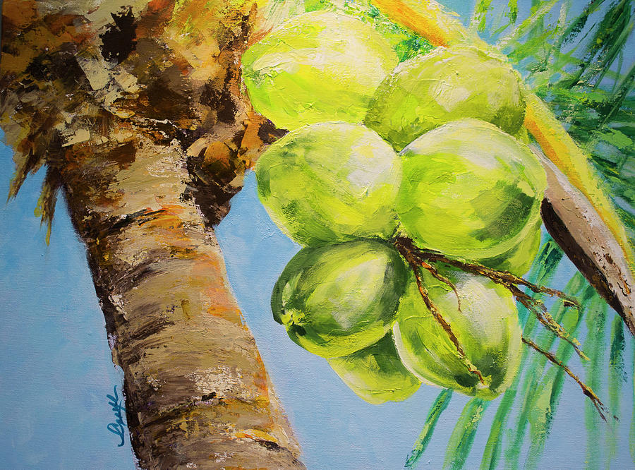 Tropical Landscape Painting - Breeze Of Grace by Caryl Pomales