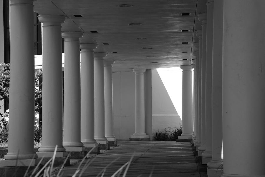 Black And White Photograph - Breezeway by Rob Hans