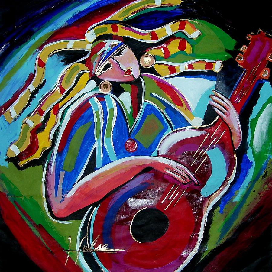 Music Painting - Breezy by Gina Hulse