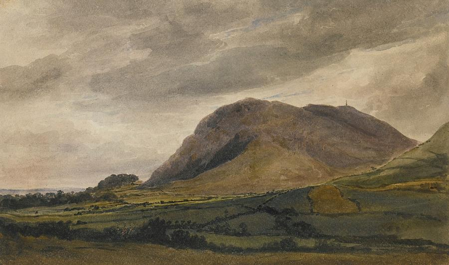 Breidden Hill In The Welsh Borders Painting By David Cox