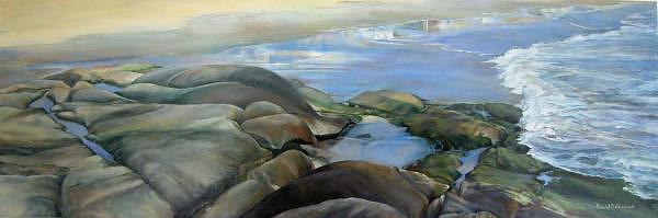 Paysage Painting - Bretagne 1 by Muriel Dolemieux