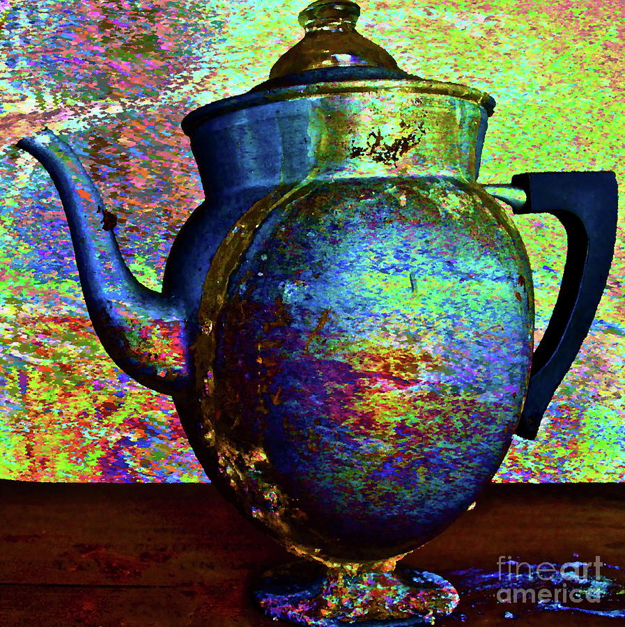 Coffee Pot Photograph - Brewing Nostalgia by Gwyn Newcombe