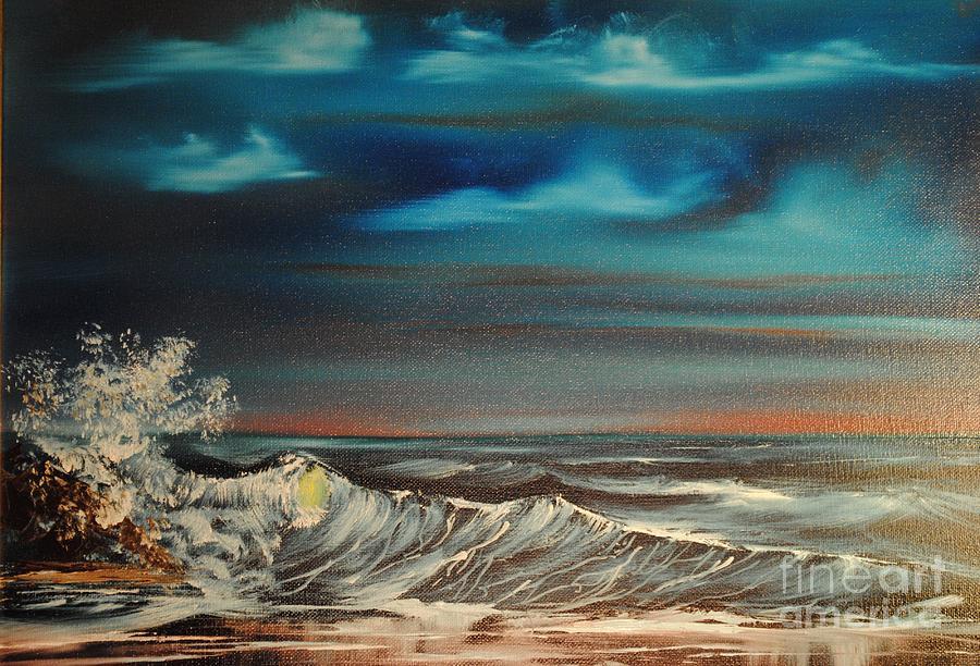Ocean Painting - Brewing Storm by James Higgins